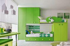 10 habitaciones con decoración verde e ideas divertidas para niños http://www.arquitexs.com/2013/11/10-habitaciones-con-decoracion-verde-e.html