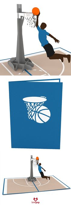 Gift a Basketball lover this 3D pop up Basketball greeting card and light up their day. #swoosh