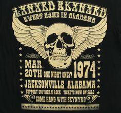 Vintage, retro, hippie classic rock poster - Lynyrd Skynyrd