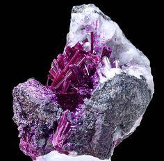 Erythrite. Agoudal Mine, Bou Azzer, Ouarzazate Province, Morocco                                                                                                                                                      More