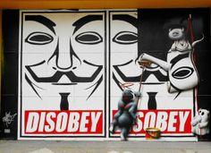 disobey Street Art de combat! #6