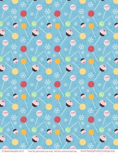 Cake Pops Holiday design |*freebie* DIY Holiday Printables on FamilyFreshCooking.com Vintage Flowers Wallpaper, Flower Wallpaper, Pattern Wallpaper, Iphone 6 Wallpaper, Images Wallpaper, Paper Background, Background Patterns, Recipe Scrapbook, Diy Cake