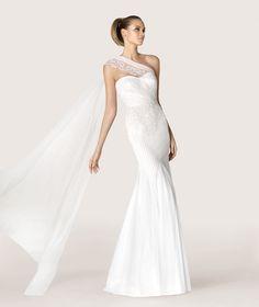 PRONOVIAS MODERN BRIDE-ANTIC - Vestido de novia de tul bordado. Pronovias 2016 | Pronovias