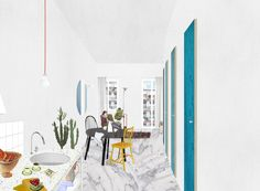 Project for the transformation of an old single-family house into 5 lofts. FALA…