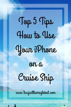 Top 5 Tips How to Use Your iPhone on a Cruise Ship - Have you ever gone on a cruise and wondered why your iPhone is not working the same way it does at home? Here I am going to tell you my top 5 tips on how to use your iPhone on a cruise ship Cruise Packing Tips, Cruise Travel, Cruise Vacation, Disney Cruise, Vacations, Packing Lists, Family Cruise, Vacation Deals, Travel Packing