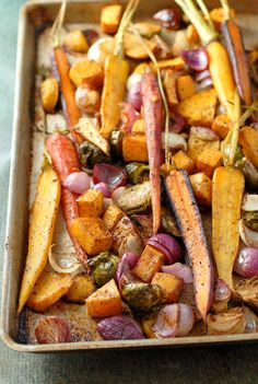 Balsamic Roasted Fall Vegetables with Sumac Recipe on Yummly. @yummly #recipe