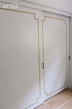 Before and After: Closet Doors Get A Washi Tape Makeover