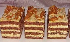 Nagyon finom karamell krémes! Mentsd el az ünnepekre! Hungarian Desserts, Hungarian Recipes, My Recipes, Cookie Recipes, Dessert Recipes, Drink Recipe Book, Winter Food, Food To Make, Food And Drink