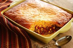 Canyon Casserole SouthernPlate-Easily adapted to SM-Use 3 qt w/inset for de-greasing and cooking meat, discard fatty water from 3qt put meat, spices, tomato and corn in.  Spoon cornbread mix on top and cook M-C-L. Can be browned in oven at very end! Yum!