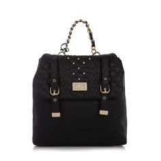 Black cable studded batchel - Handbags & purses - Debenhams.com