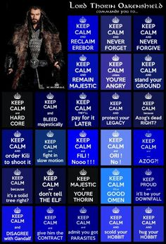 """It was just a matter of time before the """"Keep Calm"""" people caught up to Thorin..."""