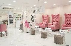 Related image couches nail salon decor, luxury nail salon и nail salon desi Luxury Nail Salon, Nail Salon Design, Nail Salon Decor, Beauty Salon Decor, Salon Interior Design, Luxury Nails, Beauty Salons, Pedicure Station, Nail Room