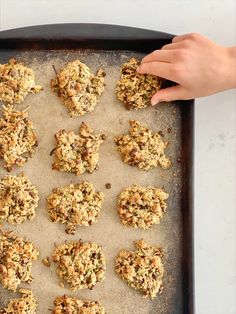 A healthy twist on a classic fave, with the addition of shredded zucchini to an oatmeal chocolate chip cookie. #sneaky #hangryhelpers #snacks #kidfriendly #cookies #cookie #oatmeal Zucchini Chocolate Chip Cookies, Chocolate Chip Oatmeal, Mini Chocolate Chips, Delicious Cookie Recipes, Yummy Cookies, Snack Recipes, Snacks, Kids Cookbook, Pumpkin Seed Butter