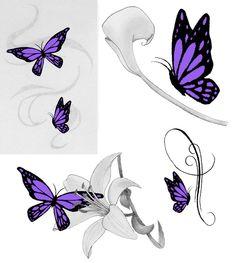 Small Butterfly Tattoos | Purple Butterfly Tattoos by ~jess-wood on deviantART