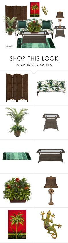 """""""Palmette"""" by imagine-your-dreams ❤ liked on Polyvore featuring interior, interiors, interior design, home, home decor, interior decorating, NDI and Ethan Allen"""