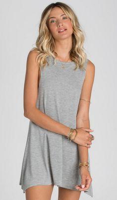 Billabong Womens Dress Last Call Dark Athletic Grey