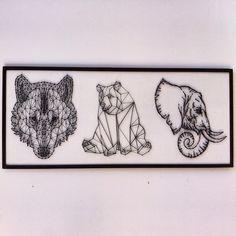 Для @t.y.s.e.n #vsco #vscocam #vscokuban #vscorussia #wood #woodwork #tonnimazzoni #art #stringart #decor #handmade #краснодар #назаказ #заказ #хэндмэйд #арт #панно #подарки #ручнаяработа #дерево #декор #стрингарт #wolf #bear #elephant #black #волк #медведь #слон