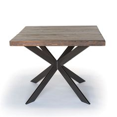Welcome to urbanwoodgoods.Vintage inspired A frame steel legs support the planked top of our Urban Wood Goods  dining table.For more info visit on our website.