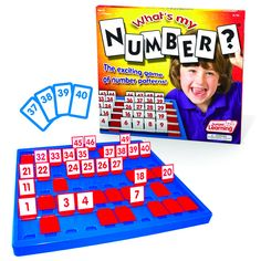 What's My Number? The exciting game of number patterns. Help students learn to count from 1 to 50 with this exciting number patterns game. Students will love the interactive nature of the game b Fun Math Games, Number Games, Math Activities, Number Sense, Dice Games, Therapy Activities, Summer Activities, Preschool Activities, Games