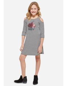 daaa531721a Cold Shoulder Sequin Cupcake Dress From Justice Indonesia Scuba Dress