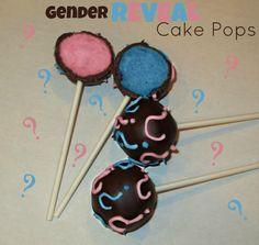 Gender Reveal Cake Pops by KaitlinsKonfections on Etsy. , via Etsy.