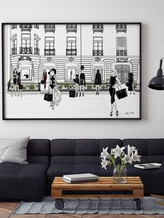 VERSACE, Paris - Illustration - Framed Limited Edition Print – Tiffany La Belle
