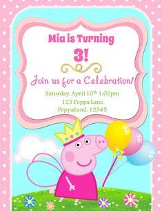 free printable peppa pig invitation template free printable