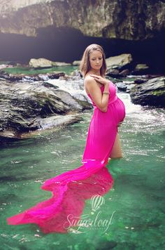 maternity session at the waterfall by Sugarloaf Photography