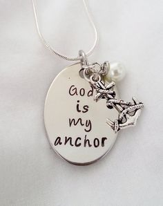 Christian Themed God is My Anchor necklace by TempleStamping