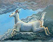 Flying deer painting