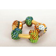 Bracelet en perles de pagne et de verre Fabric Jewelry, Ethnic Fashion, Bracelets, Cufflinks, Creations, Jewellery, House, Glass Beads, Male Shoes