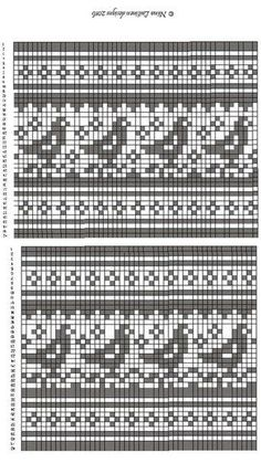 Cross stitch pattern and granny square diagram for Handmade Fair Fair Isle Knitting Patterns, Fair Isle Pattern, Knitting Charts, Loom Knitting, Knitting Stitches, Knitting Socks, Free Knitting, Cross Stitch Bird, Cross Stitch Borders