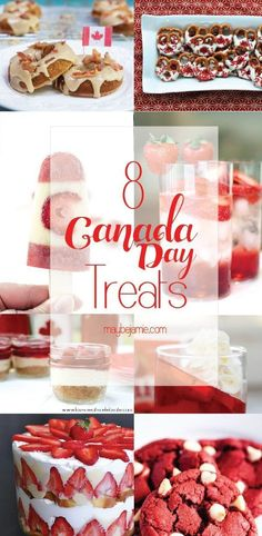 With Canada Day being this Friday, I wanted to find some yummy Canada inspired treats for you guys! These all look so so delicious, and all pretty simple! Desserts For A Crowd, Dessert Recipes, Sweet Desserts, Canada Celebrations, Canada Day Crafts, Canada Day Party, Canadian Food, Canadian Dishes, Canadian Recipes