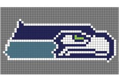 Crochet Bobble Stitch Pixel Blanket (Seattle Seahawks Blanket) - Repeat Crafter Me
