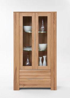 Vitrine Balder Holz massiv Wildeiche 5482. Buy now at https://www.moebel-wohnbar.de/vitrine-balder-glasvitrine-sammlervitrine-massivholz-wildeiche-5482.html