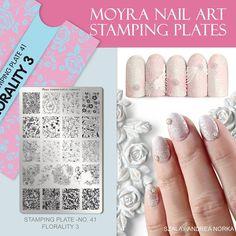 Nail Art Stamping Plates, Finger Nail Art, Bridal Nails, Nail Designs, Nailart, How To Make, Manicures, Flowers, Weddings