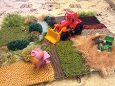 Knitted farm for kids handmade