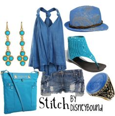 disney bound - stitch I wouldnt do so much matchy ness though