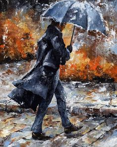 Hurry Go to work Figure DIY Digital Painting By Numbers Modern Wall Art Canvas Painting Gift for children Home Decor Rain Painting, Mural Painting, Woman Painting, Paintings, Figure Painting, Rain Art, Umbrella Art, Black Umbrella, Digital Paintings