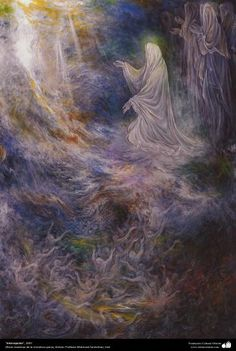 نقاشی استاد فرشچیان امام رضا