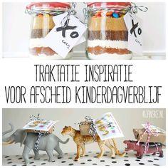Traktatie inspiratie voor afscheid kinderdagverblijf - Janske.nl School Birthday Treats, Children, Kids, Place Card Holders, Om, Boys, Boys, Sons, Babies