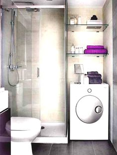 Image result for washing machine in bathroom