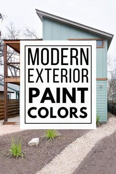 Must see modern exterior paint color combinations that work so well together! Paint your home's exterior with confidence after being inspired by these great modern color schemes. Best House Colors Exterior, Exterior Paint Color Combinations, Modern Color Schemes, Exterior Paint Colors, Modern Exterior, Good House, Painting, Exterior Colors, Painting Art