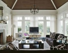8 Tv In Front Of Window Ideas Family Room Living Room Windows Home