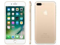 "iPhone 7 Plus Apple 128GB Dourado 4G Tela 5.5"" - Câm. 12MP + Selfie 7MP iOS 10 Proc. Chip A10"