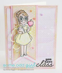 Teacher Mae from Some Odd Girl by Anna Sigga. #teachercards #schoolstamps #someoddgirlmae