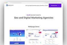 Best Creative Digital Agency WordPress Themes 2020 - New Template Seo Digital Marketing, Online Marketing, One Page Website, Seo Agency, Marketing Training, Website Template, Creative Business, Wordpress Theme, Web Design
