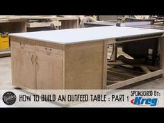 How To Make A Tablesaw Outfeed Table - Part 1 - YouTube Tablesaw Outfeed Table, Build A Table, Inside Cabinets, Cabinet Boxes, Concealed Hinges, Plywood Sheets, Pocket Hole, Table Saw, Industrial Table