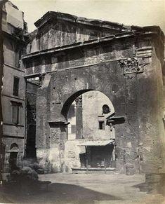 """1867/68 autore non identificato """"B"""" . Portico d' Ottavia"""