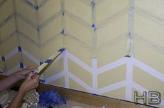 Chevron Paint tutorial with scotch blue painting tape